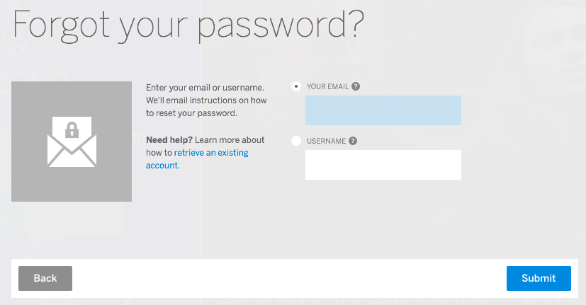 how to find a password for an email account