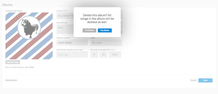 Delete An Album Or Song – Help Center